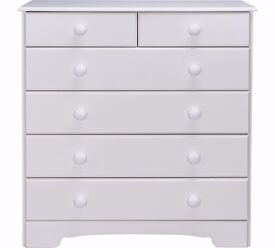 Ex-Display Nordic 4+2 Drawer Chest - White