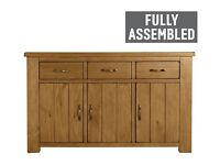 Arizona 3 Door 3 Drawer Sideboard - Solid Pine
