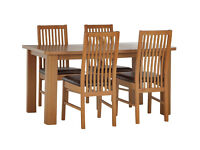 HOME Shepstone Extendable Table & 4 Paris Chairs -Chocolate