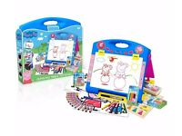 Peppa Pig Bundle New Table Top Easel + Playhouse Construction + Jigsaws New
