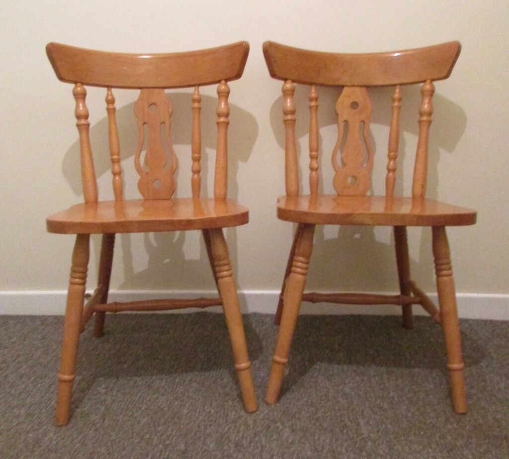 2 dining chairs Julian Bowen wooden farmhouse style FREE DELIVERY