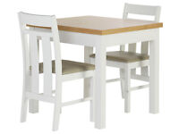 Heart of House Castleton Dining Table & 2 Chairs-Oak Veneer