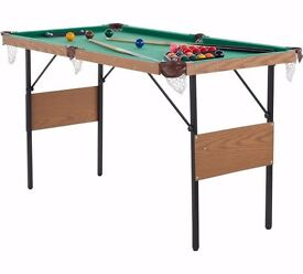 Snooker and Pool Table - 4ft 6in 303.