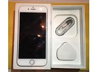 iPhone 6 - silver - 16gb - free apple charger and cable