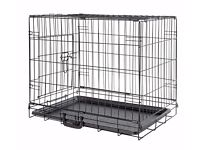 Medium black Dog Crate - 61 x 91 x 57cm - complete with full-size mat