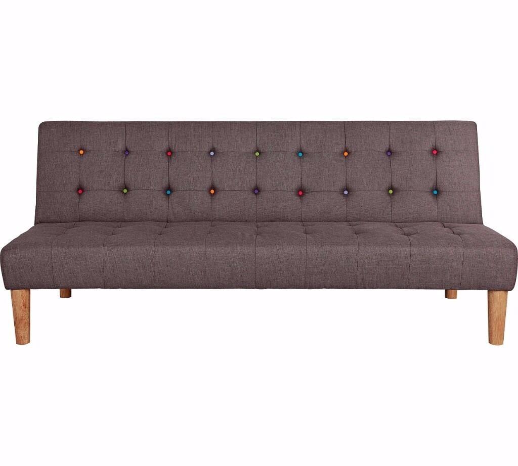 disco fabric clic clac sofa bed grey in bradford west yorkshire gumtree. Black Bedroom Furniture Sets. Home Design Ideas