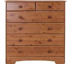 Ex display Nordic 4+2 Drawer Chest - Pine