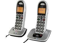 BT Big Button 400 Cordless Twin Telephones.