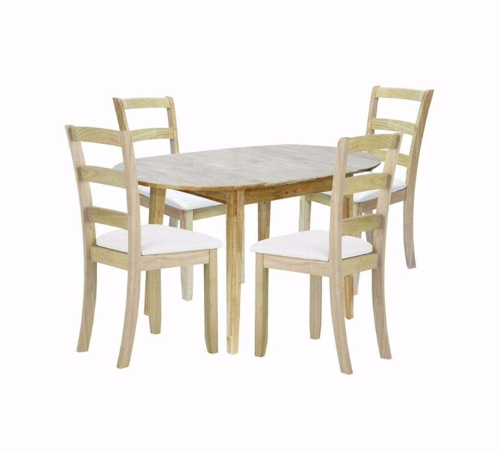 Thornbury Dining Table with 4 Slatted Chairs
