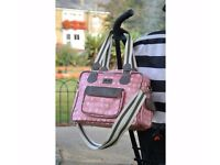 Brand New with Tags- Beau and Elliot Pink Confetti Changing Bag- Worth £70 SELLING FOR £55