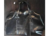 Black Large Next Duffel Duffle Travel Gym Weekender Bag.