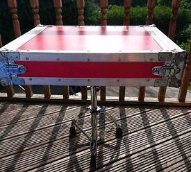 SIde Table, Upcycled Flight Case/Drum Stool