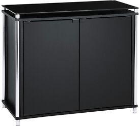 Hygena Matrix 2 Door Sideboard - Black Glass
