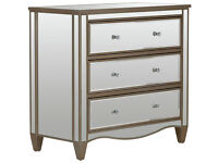 Schreiber Cranbourne 3+2 Drawer Bedside Chest - Mirrored