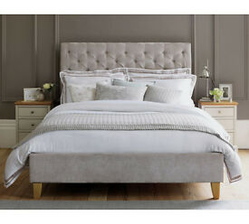 Schreiber Portisham Upholstered Double Bedframe - Grey