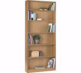 HOME Maine Tall Wide Bookcase - Oak Effect 532.