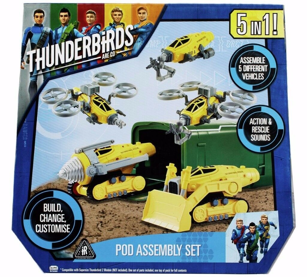 Thunderbirds Are Go Pod Assembly Set: Brand New and Unopened