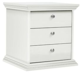 HOME Canterbury 3 Drawer Bedside Chest - White