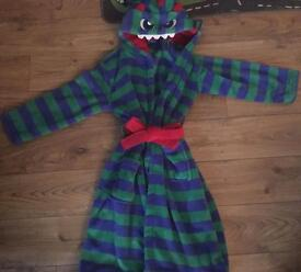 BOYS MONSTERS DRESSING GOWN 9-10 YEARS