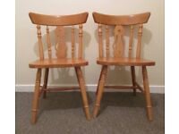2 dining chairs Julian Bowen wooden vintage style chairs kitchen chairs FREE DELIVERY