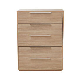 Hygena Bergen 5 Drawer Chest - Oak