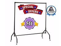 Clothes Rail Black 5ft Heavy Duty 4 Garment,Wardrobe,Shop Display & Home Storage Display 630/CCC