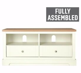 EX DISPLAY Heart of House Westbury 2 Drawer TV Unit - White