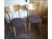 Pair of Wooden Kitchen Chairs