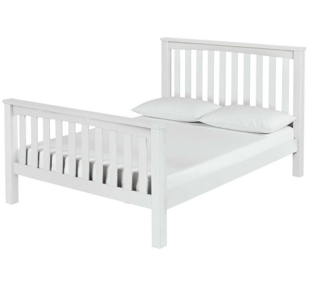 Maximus White Bed Frame - Double