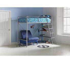 High sleeper bed with table