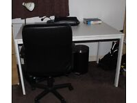 Office wheelchair and study table