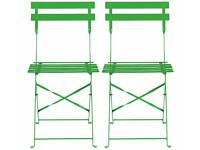 HABITAT METAL GARDEN CHAIRS