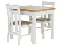Heart of House Castleton Dining Table & 2 Chairs-Oak Veneer