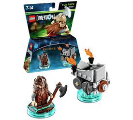 Lego Dimensions, Fun Pack, Lord Of The Rings, Gimli