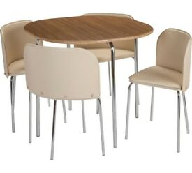 Hygena Amparo compact kitchen dining table set