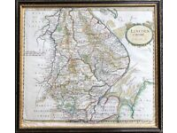 Robert Morden Map Of Lincolnshire 1695 Old British Maps