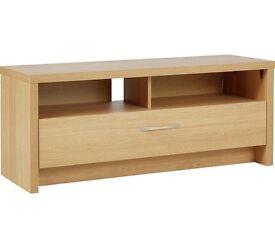 Argos oak effect corner tv unit