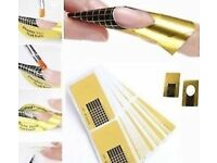 x19 NAIL FORMS NAIL ART STICKER SELF ADHESIVE EXTENSION GUIDE ACRYLIC TIPS UV GEL