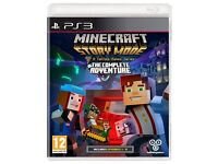 MINECRAFT MODE STORY THE COMPLTE ADVENTURE FOR PS3 OR XBOX 360 GAMES SEALED