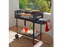 NEW Deluxe Charcoal Rectangle Steel Party BBQ