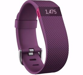 FitBit Charge HR - Plum - Large
