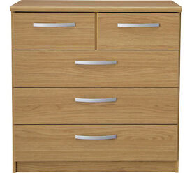 Collection New Hallingford 3+2 Drawer Chest - Oak Effect
