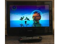 15 inch Technika SC518675 HD HDMI Flat LCD TV Freeview Digital Television