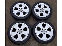 """Audi 17"""" Alloy wheels including full set of P606 225/45ZR17 94W tyres"""