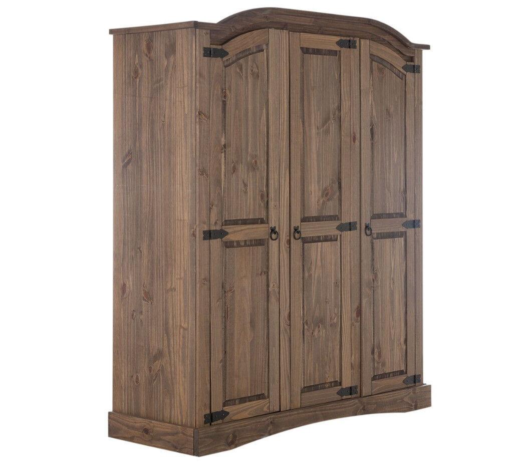Collection Puerto Rico 3 Door Wardrobe - Dark
