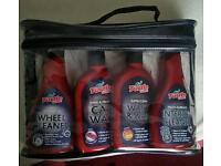 Turtle Wax Valet Bag Car Wax Wheel Wash Interior Cleaner Sponges Cloths