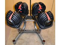 Bowflex Selecttech 552 Adjustable Dumbbells, Stand, Bench and Extras