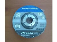 3 x PIRANHA BLACK & DECKER DISCS FOR METAL GRINDING