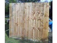 3 closeboard fence panels