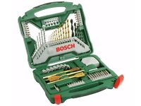 BOSCH 70 PIECE X-LINE DRILL BIT SET (IN GREAT CONDITION) TO GO ASAP!!!